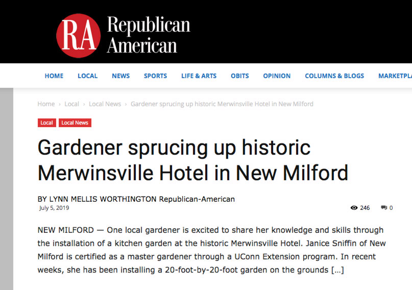 How can you help the Merwinsville Hotel Restoration?